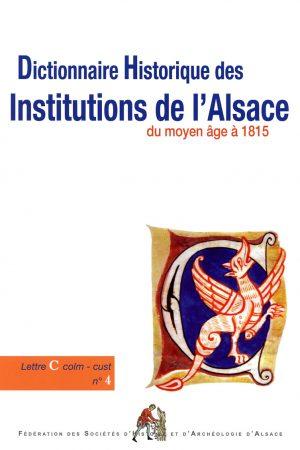 Dictionnaire historique des institutions de l'Alsace
