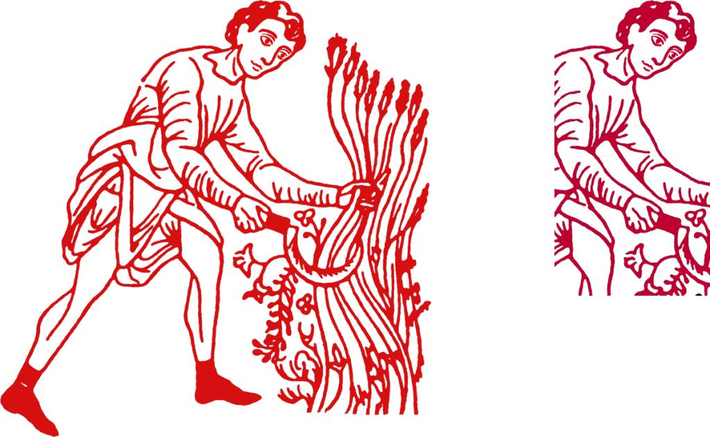 Le moissonneur, logo de la Fédération