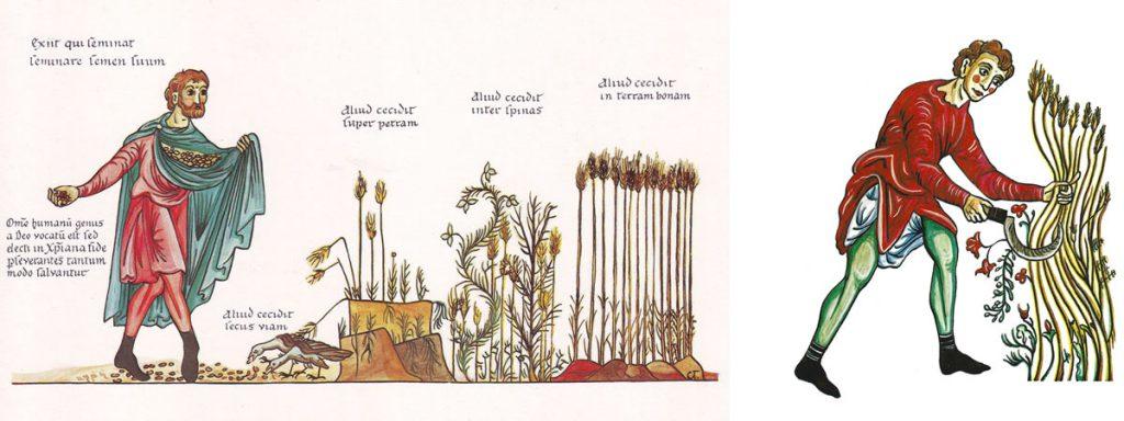 Le moissonneur - Hortus Deliciarum