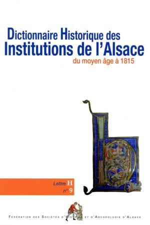 Dictionnaire des institutions d'Alsace - H