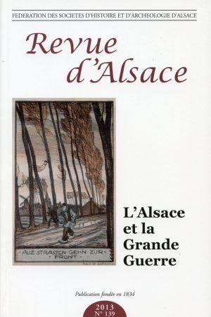 Revue d'Alsace 2013 - N°139